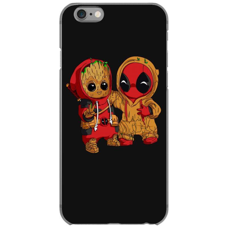 Deadpool And Baby Groot Iphone 6/6s Case. By Artistshot