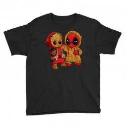 Deadpool and baby Groot Youth Tee | Artistshot