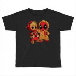 Deadpool and baby Groot Toddler T-shirt | Artistshot