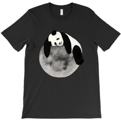 Panda Moon T-shirt Designed By Artees Artwork