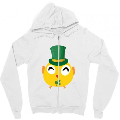 Irish Chick St Patricks Day Zipper Hoodie Designed By Sengul