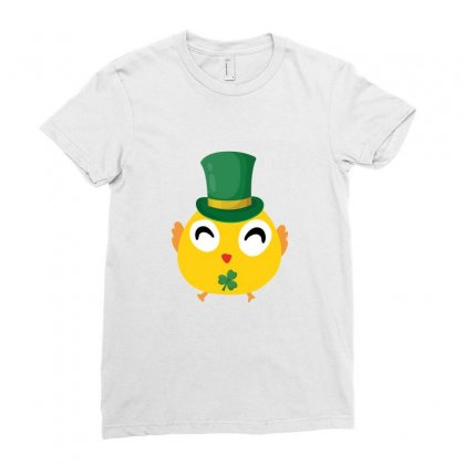 Irish Chick St Patricks Day Ladies Fitted T-shirt Designed By Sengul