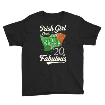Irish Girl Over 20 And Fabulous With Ireland Flag Youth Tee Designed By Artees Artwork
