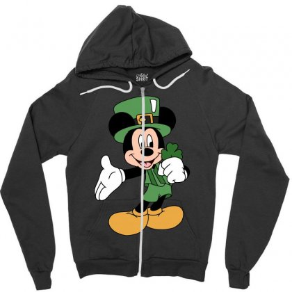 Disney St Patrick Day Zipper Hoodie Designed By Omer Acar