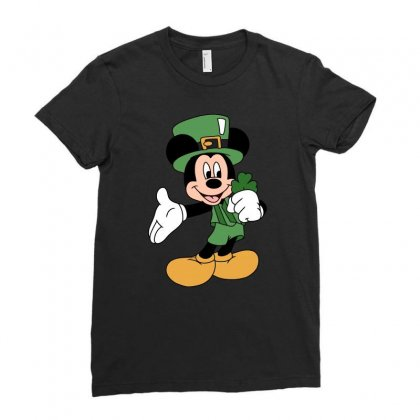 Disney St Patrick Day Ladies Fitted T-shirt Designed By Omer Acar