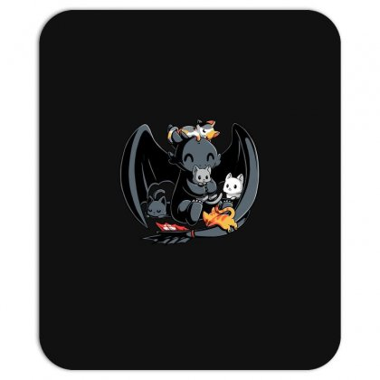 Toothless And Cats Mousepad Designed By Badaudesign