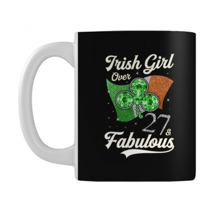 Irish Girl Over 27 And Fabulous With Ireland Flag Mug Designed By Artees Artwork