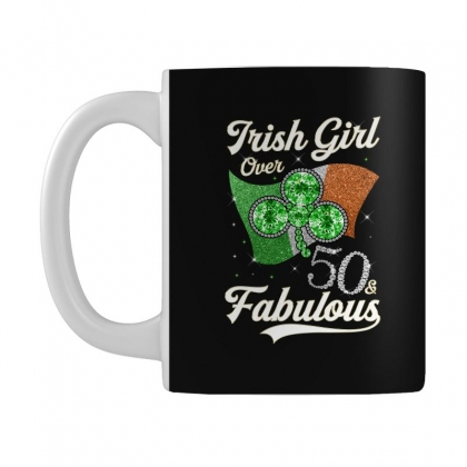 Irish Girl Over 50 And Fabulous With Ireland Flag Mug Designed By Artees Artwork