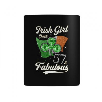 Irish Girl Over 57 And Fabulous With Ireland Flag Mug Designed By Artees Artwork