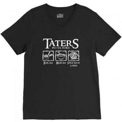 The Lord Of The Rings Taters Potatoes Recipe V-neck Tee Designed By Vanode Art