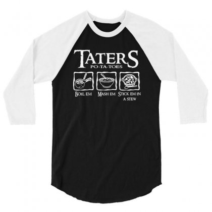 The Lord Of The Rings Taters Potatoes Recipe 3/4 Sleeve Shirt Designed By Vanode Art