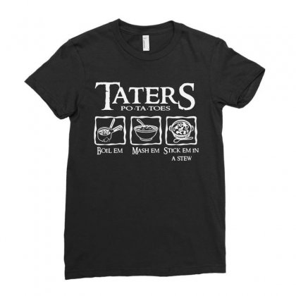 The Lord Of The Rings Taters Potatoes Recipe Ladies Fitted T-shirt Designed By Vanode Art