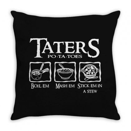 The Lord Of The Rings Taters Potatoes Recipe Throw Pillow Designed By Vanode Art