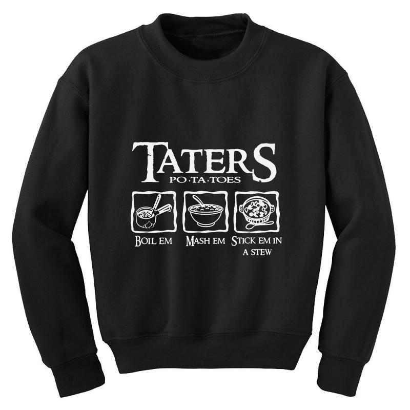 The Lord Of The Rings Taters Potatoes Recipe Youth Sweatshirt | Artistshot