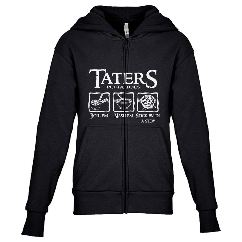 The Lord Of The Rings Taters Potatoes Recipe Youth Zipper Hoodie | Artistshot