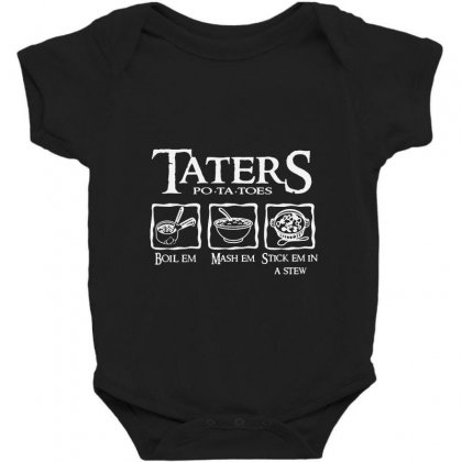 The Lord Of The Rings Taters Potatoes Recipe Baby Bodysuit Designed By Vanode Art