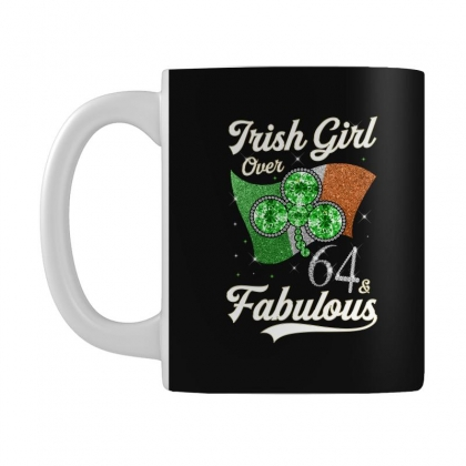Irish Girl Over 64 And Fabulous With Ireland Flag Mug Designed By Artees Artwork