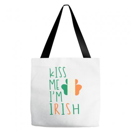 Kiss Me I'm Irish Tote Bags Designed By Ale C. Lopez