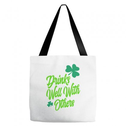 Drinks Well With Others Tote Bags Designed By Ale C. Lopez