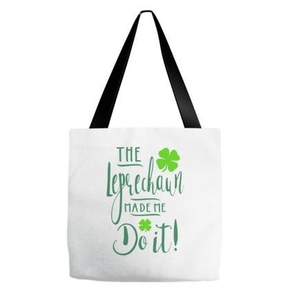 The Leprechaun Made Me Do It! Tote Bags Designed By Ale C. Lopez