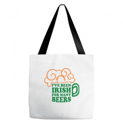 I've Been Irish For Many Beers Tote Bags Designed By Ale C. Lopez