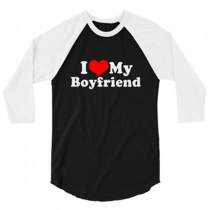 I Love My Boyfriend Valentine's Day 3/4 Sleeve Shirt Designed By Vanode Art