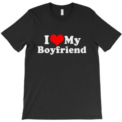 I Love My Boyfriend Valentine's Day T-shirt Designed By Vanode Art