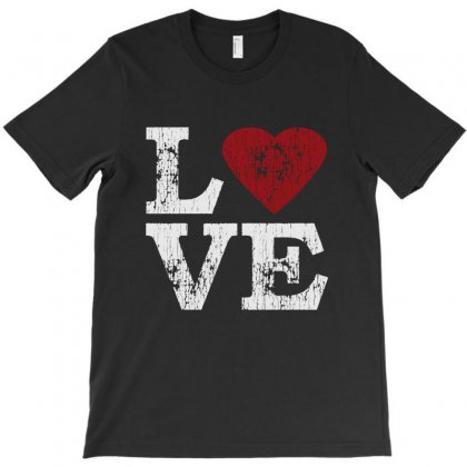 Love With Heart T-shirt Designed By Vanode Art
