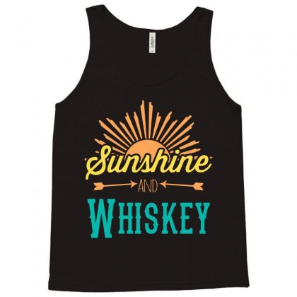 Sunshine And Whiskey Tank Top Designed By Gooseiant