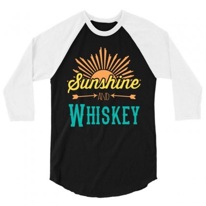Sunshine And Whiskey 3/4 Sleeve Shirt Designed By Gooseiant