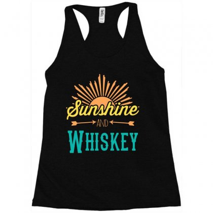 Sunshine And Whiskey Racerback Tank Designed By Gooseiant