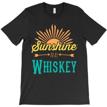 Sunshine And Whiskey T-shirt Designed By Gooseiant