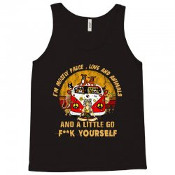 i'm mostly peace , love , and animals Tank Top | Artistshot
