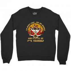 i'm mostly peace , love , and animals Crewneck Sweatshirt | Artistshot