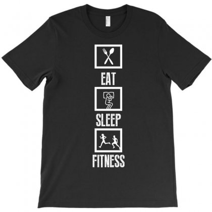Eat Sleep Fitness T-shirt Designed By Wizarts