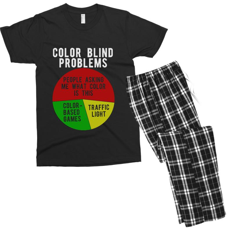 ff21b69a color blind problems people asking me what color is this Men's T-shirt  Pajama Set