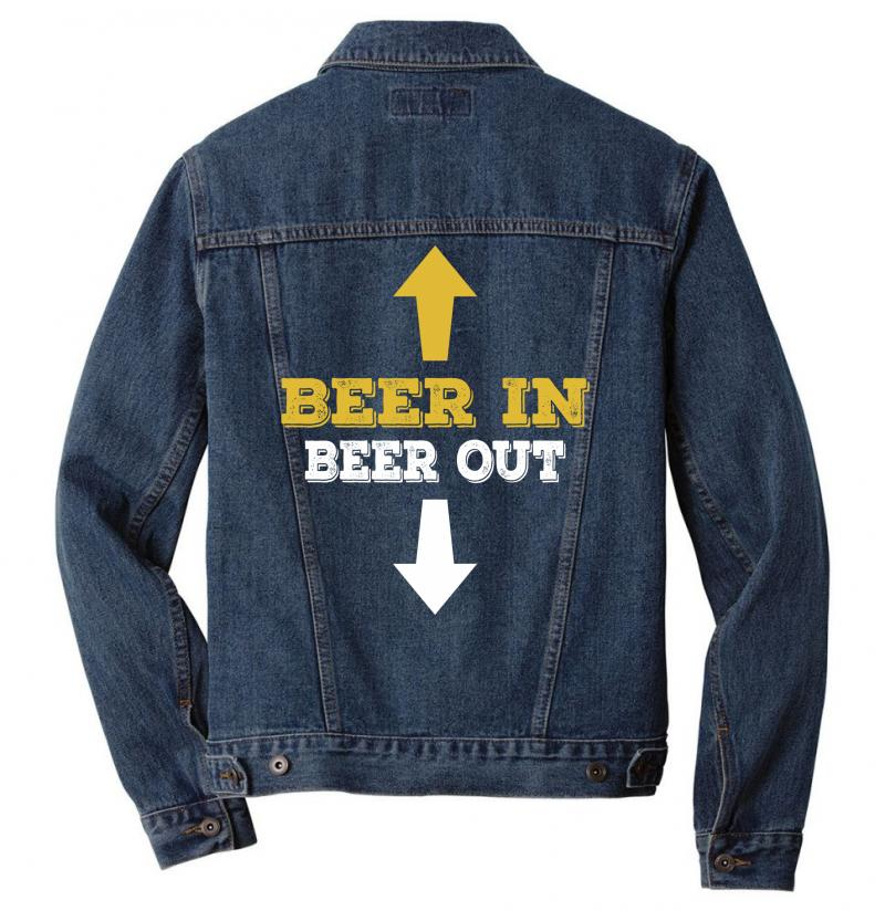 Beer In Beer Out Men Denim Jacket | Artistshot