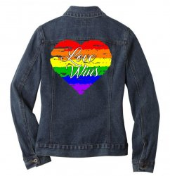 Love Wins One Pulse Orlando Strong Ladies Denim Jacket | Artistshot