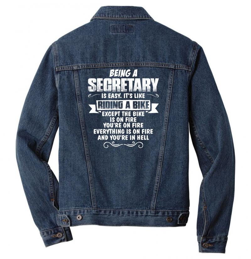 Being A Secretary Men Denim Jacket | Artistshot