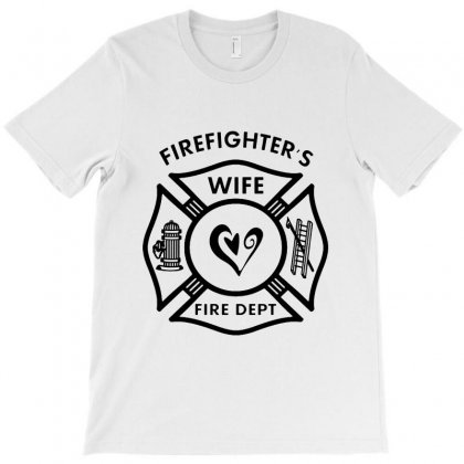 Firefighters Wife T-shirt Designed By Bertaria