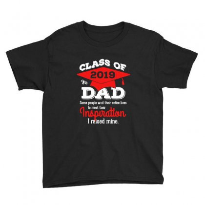 Class Of 2019 Dad I Raised Mine Graduated Youth Tee Designed By Vanode Art