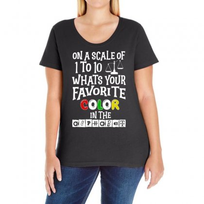 What's Your Favorite Color In The Alphabet Ladies Curvy T-shirt Designed By Vanode Art