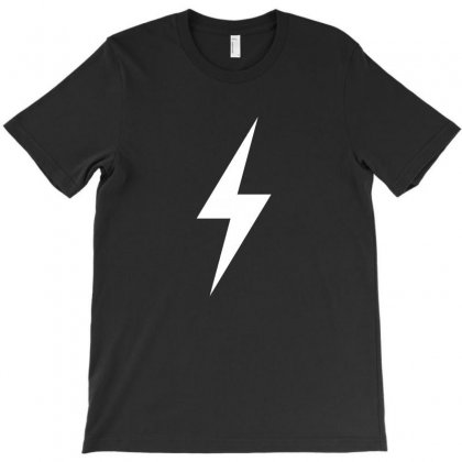 Lightning Bolt Icon (white) T-shirt Designed By Noir Est Conception