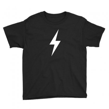 Lightning Bolt Icon (white) Youth Tee Designed By Noir Est Conception
