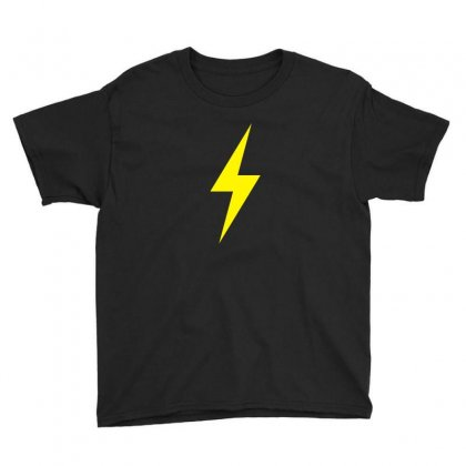 Lightning Bolt Icon Yellow Design Youth Tee Designed By Noir Est Conception