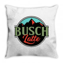 vintage busch light busch latte Throw Pillow | Artistshot