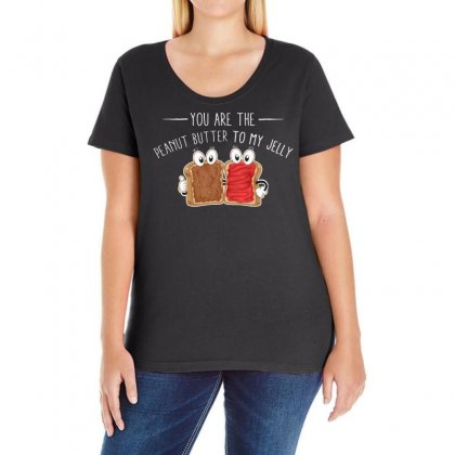 You Are The Peanut Butter To My Jelly Ladies Curvy T-shirt Designed By Vanode Art