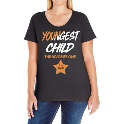 Youngest Child The Favorite One   Family Fun Gift Ladies Curvy T-shirt Designed By Vanode Art