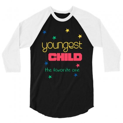 Youngest Child The Favorite 3/4 Sleeve Shirt Designed By Vanode Art
