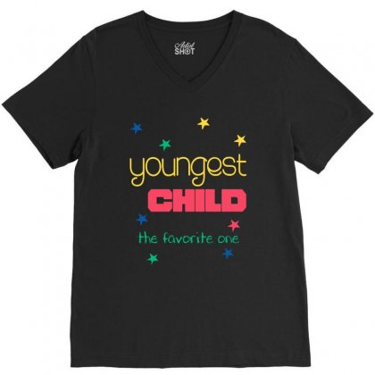 Youngest Child The Favorite V-neck Tee Designed By Vanode Art